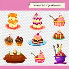 Pastry clipart sweet treat Sweet Desserts Illustration art Clipart