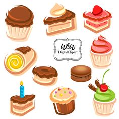 Pastry clipart sweet treat Cake frosting art Clipart bakery