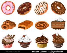 Pastry clipart sweet treat Cupcake clipart art  png