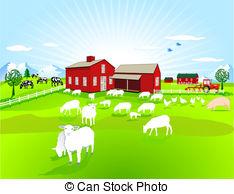 Pasture clipart Benchart11/2 Landscape clip Clipart farm