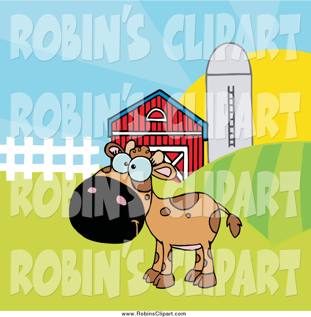 Pasture clipart background Of Barn and a by