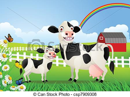 Pasture clipart background Search Clip cow Vector pasture