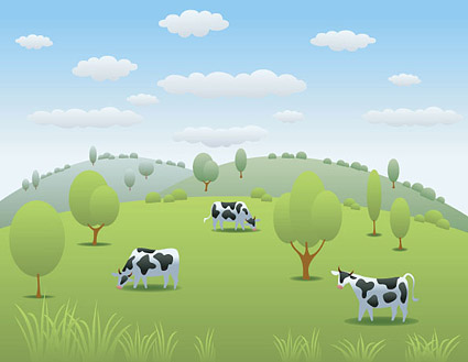 Pasture clipart background Vector Free Pasture Clip