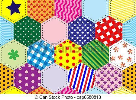 Patchwork clipart A Patchwork quilt Vectors