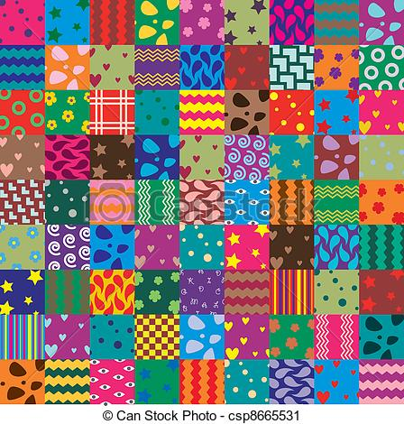 Patchwork clipart Clip  background vector fabric
