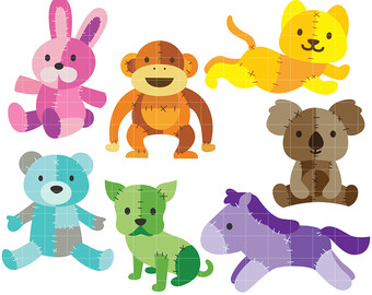 Patchwork clipart Card art for Animals Clip