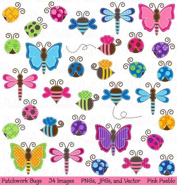 Patchwork clipart baby shower Ladybug Shower  Bugs Bumble