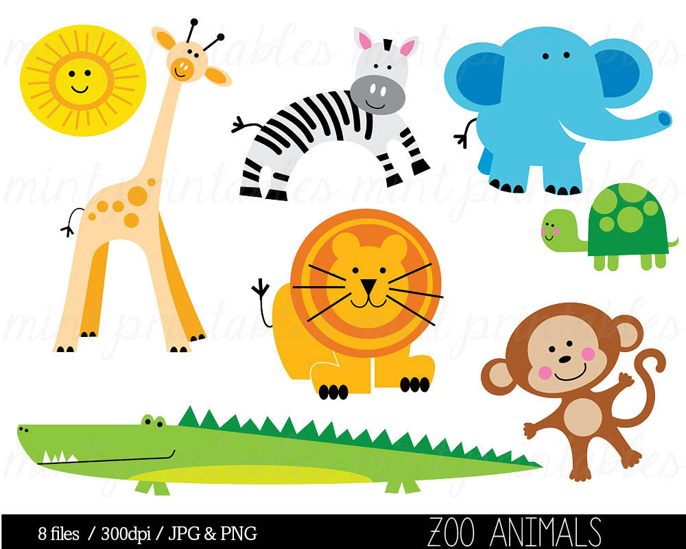 Baby Animal clipart zoo animal Clipart Cute Animals free