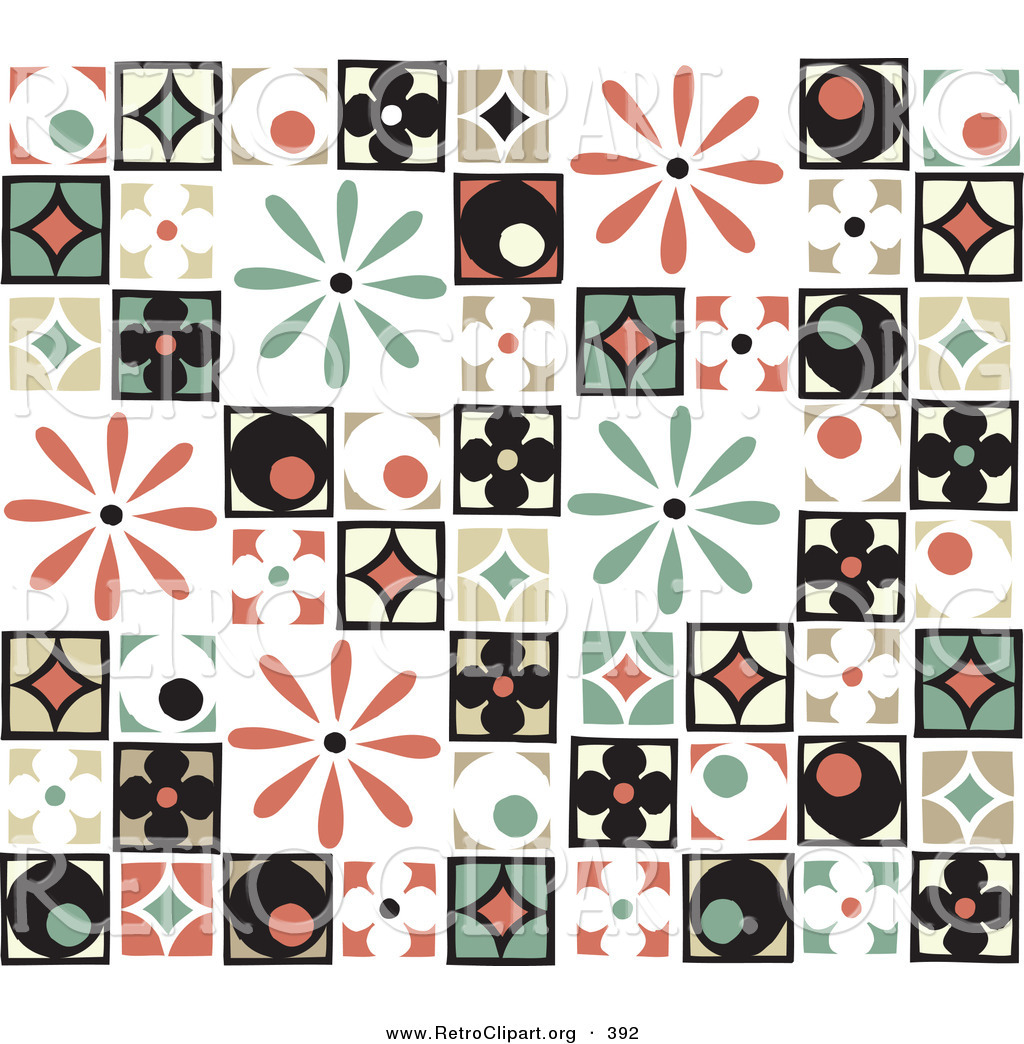 Patchwork clipart colorful Retro Clipart Circle of of