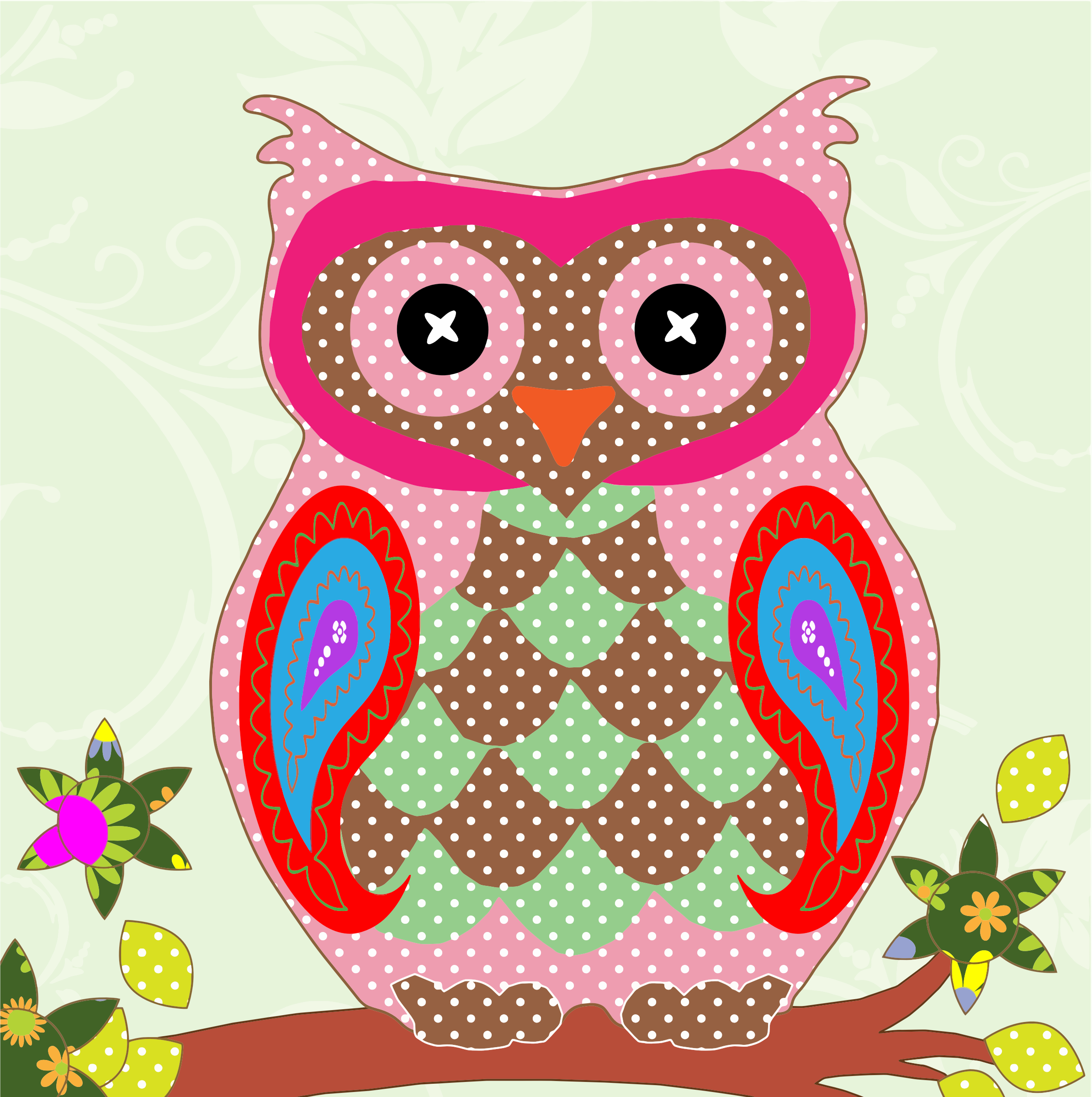 Patchwork clipart colorful Colorful Patchwork Clipart Owl Patchwork