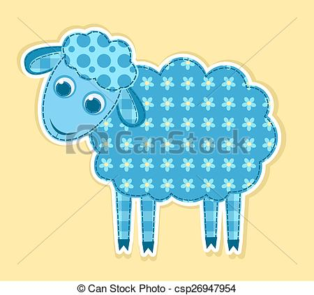 Patchwork clipart cute Vector patchwork Children sheep patchwork