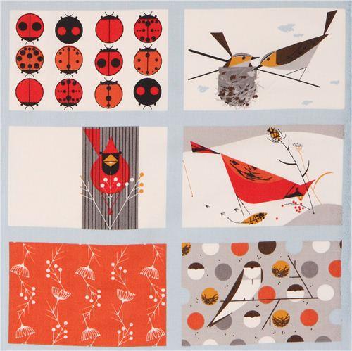 Patchwork clipart fabric patch Bird Patch organic 1 Cardinal