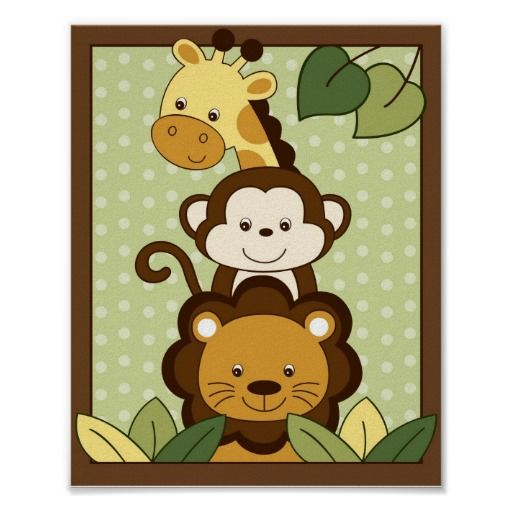 Patchwork clipart jungle animal Nursery Art Safari 104 images