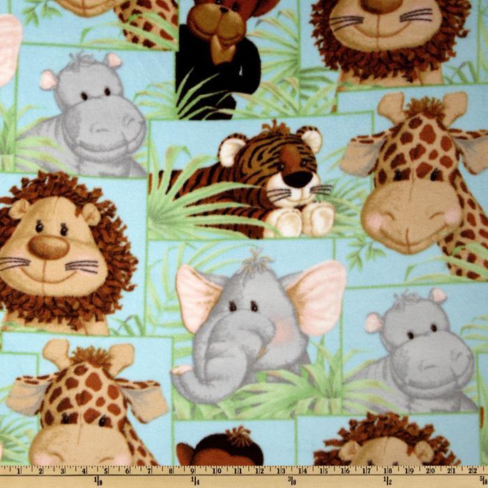 Patchwork clipart jungle animal Fabric Jungle Jungle Fabric Fabric