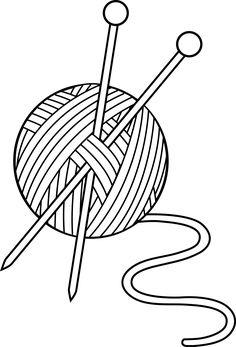 Patchwork clipart knitting White Knitting Set KNITTING Black