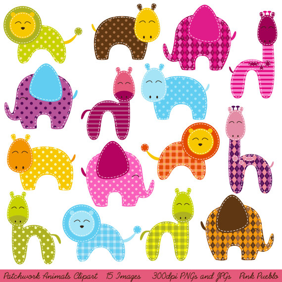 Patchwork clipart pink Patchwork PinkPueblo Zoo Clip Clipart