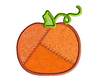 Patchwork clipart pumpkin For Patchwork Applique INSTANT Studio