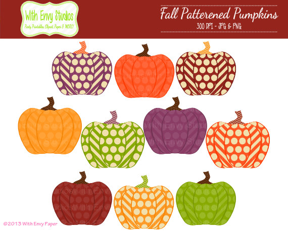 Patchwork clipart pumpkin Patterned Clipart Clip Art Pumpkin