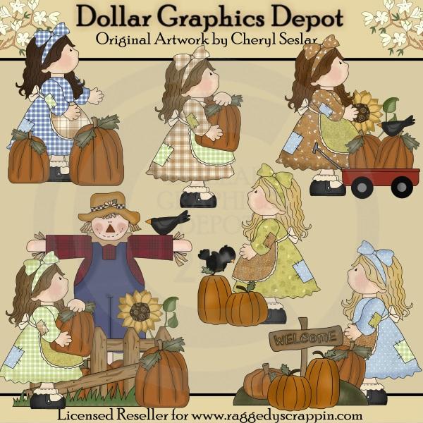 Patchwork clipart pumpkin Clip Patch Pumpkin Girls $1