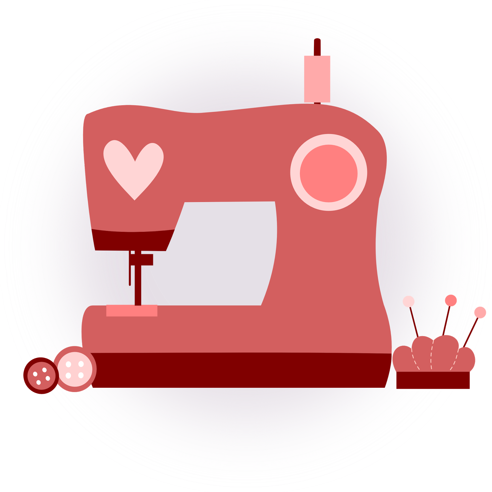 Patchwork clipart sewing Costura art máquina coser coser