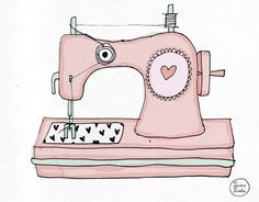 Patchwork clipart sewing Costura ends  rose Machine