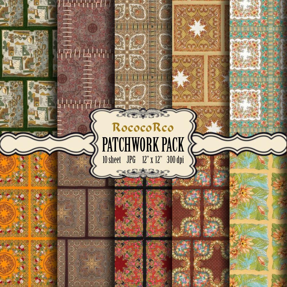 Patchwork clipart texture Clipart SALE Patchwork digital paper