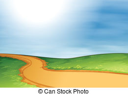 Pathway clipart straight road Path Path Illustrations  Art
