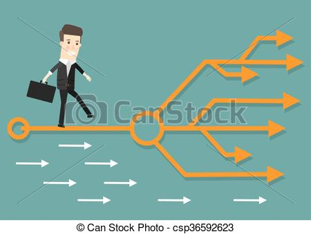 Path clipart career path Graphics right Businessman Right the