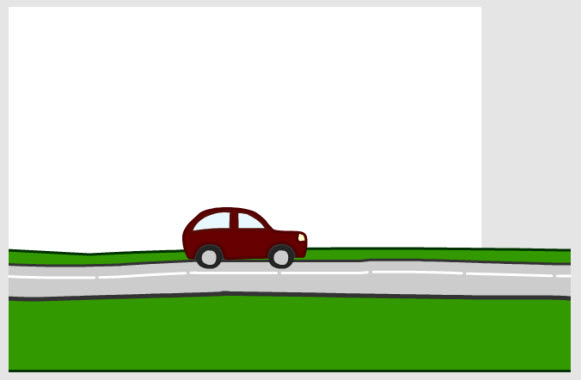 Drawn road horizontal road With Parallax and Game to
