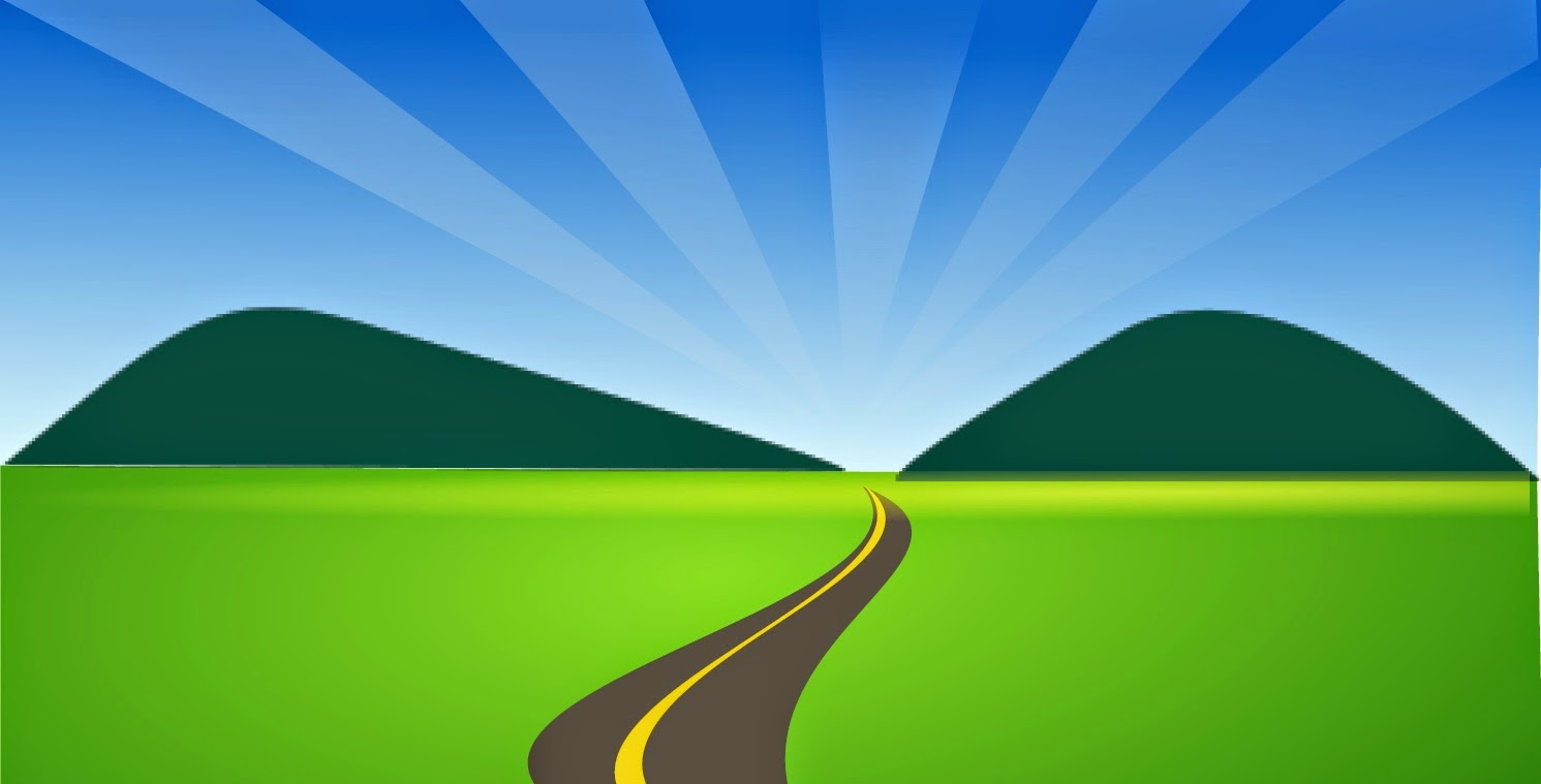 Way clipart country road #2