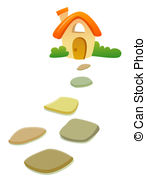 Path clipart stepping stone Roof Stepping of Illustrations before