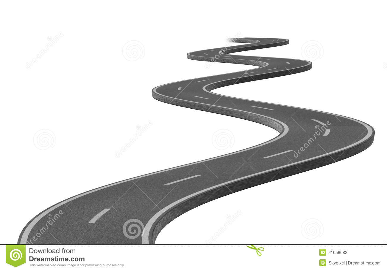Road clipart winding path #3