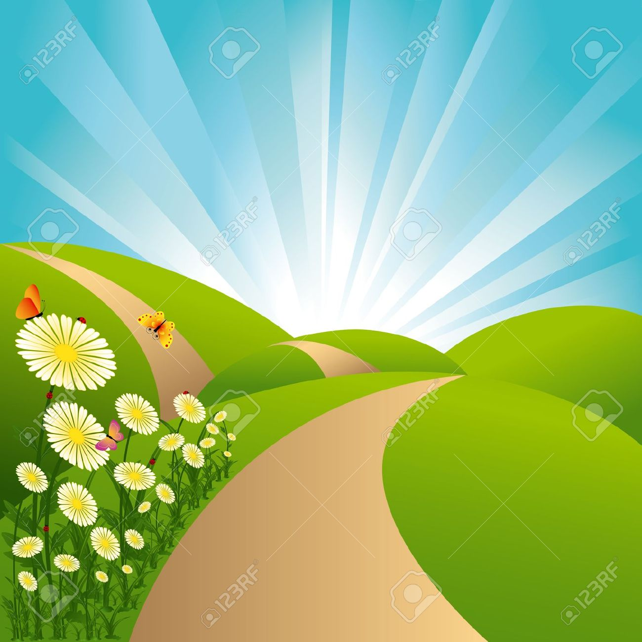 Pathway clipart countryside Clip Clip Art Art Pathway