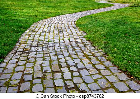 Road clipart brick path #1
