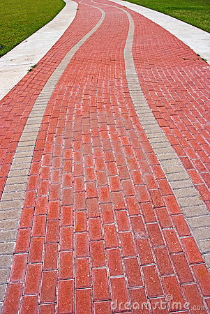 Road clipart brick path #7