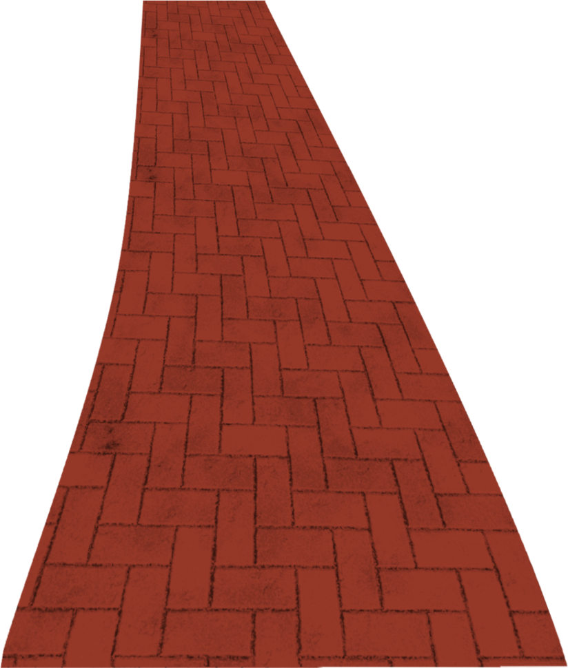 Road clipart brick path #2
