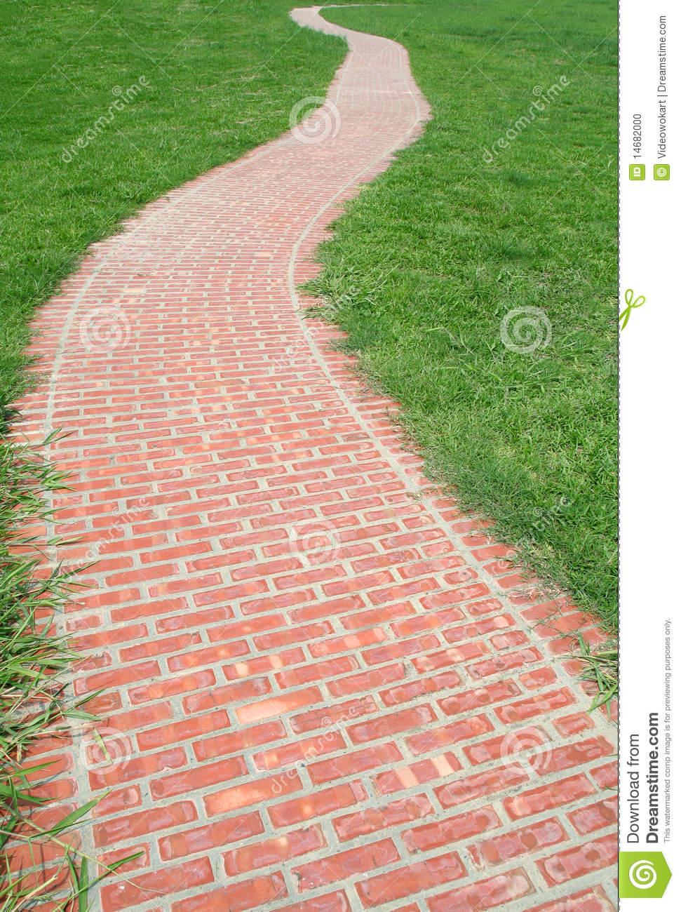 Road clipart brick path #12