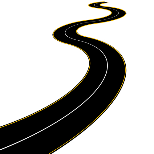 Road clipart winding path #1