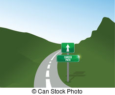 Pathway clipart career pathway Landscape background road Illustration illustration