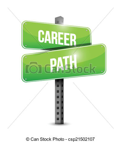 Pathway clipart career pathway Sign path illustration sign Vector