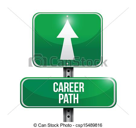 Path clipart career path Road sign career Art road