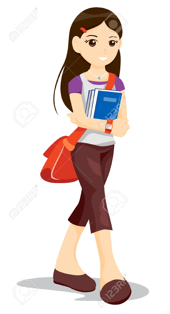 Pathway clipart college student Girl girl com student Clipart