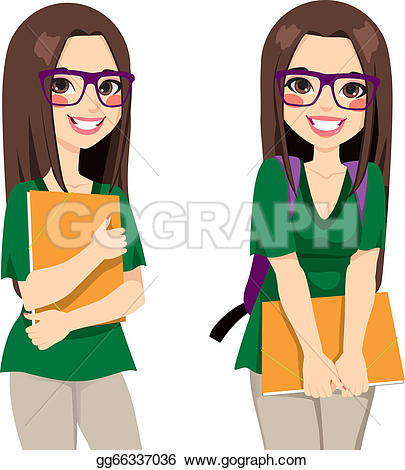Pathway clipart college student Royalty Student Nerdy · Girl