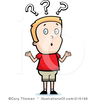 Way clipart confused person #2
