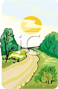 Pathway clipart curved street Road Picture: Country a Country