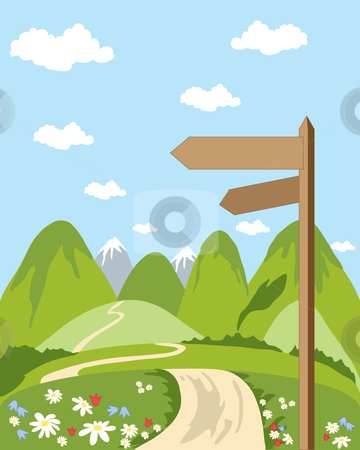 Pathway clipart countryside Signpost stock vector Signpost