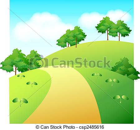 Pathway clipart countryside And countryside grass Clip 28