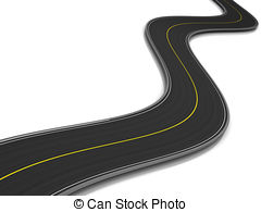 Curve clipart curved road 3d  Stock over white