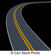 Curve clipart pathway Isolated curve wander Clip wander