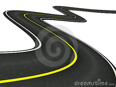 Asphalt clipart path Curved Car Road Asphalt 400x300